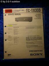 Sony Service Manual TC TX333 Cassette Deck (#4066)