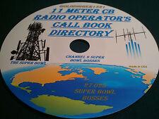 11 METER CB RADIO OPERATOR'S CALL BOOK DIRECTORY MANUAL ON CD