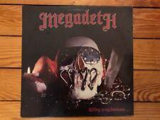 Megadeth – Killing Is My Business... 1985 Combat MX-8015 Jacket/Vinyl NM-