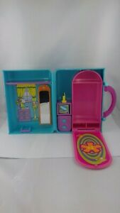 Fashion polly pocket purse carrying case bedroom valise 2000 - incomplet