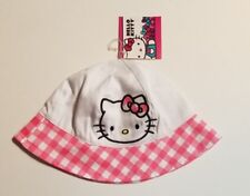437a55bec3956 New Girls Kids Children Cute Pink Hello Kitty Light Bucket Cap Sun Hat  Official