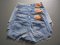 Levis 501 Womens High Waisted Hotpants Denim Jeans Shorts A Grade vtg size 6 -20