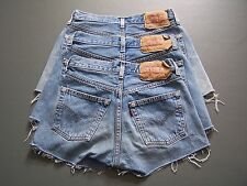 Levis 501 Womens Denim Jeans Shorts High Waisted Hotpants vtg 6 8 10 12 14 16 18
