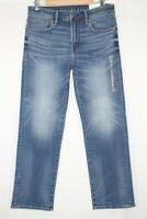 American Eagle Men's Relaxed Straight Next Level Stretch 31 x 30 Med Indigo