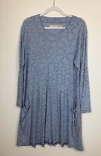 Crescent Moon Clothing Boutique Women's Plus Size Small Blue Floral Tunic, EUC