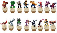16  Super Hero  Squad Marvel STAND UP Edible Cupcake Topper Edible Decorations