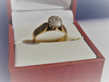 Solid 9K Yellow Gold Genuine Diamond Ring, Valuation $1130.00