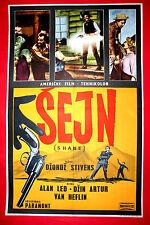 SHANE 1953 WESTERN VAN HEFLIN ALAN LADD GEORGE STEVENS UNIQUE EXYU MOVIE POSTER