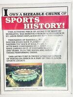 Busch Stadium Original Astro Turf Vintage Rare St. Louis Cardinals