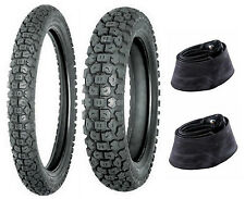 Shinko 3.00-21 & 5.10-17 244 Tire & Tube Set For Kawasaki KLR650 & Honda XL600R