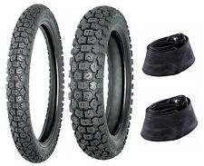 Shinko 3.00-21 & 5.10-17 244 Tire & Tube Set For Kawasaki KLR650 & Honda XL600R