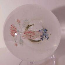 RARE ANTIQUE Millville HAND HOLDING BOUQUET Art Glass Paperweight (1880-1915)