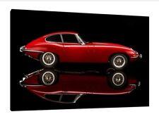 E-Type Jaguar - 30x20 Inch Canvas Art Work - Framed Picture Classic Car