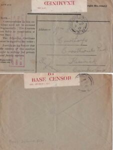 GB.-1915 Royal Navy envelope with cachet applied   in red. Scarcer.