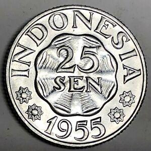 # C5749     INDONESIA   COIN,     25  SEN   1955  Unc.