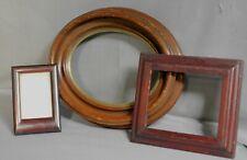 4 Antique Miniature Picture Frames Dutch baroque Victorian Oval Art Nouveau Wood
