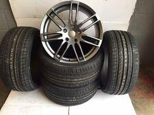 "18""rs4 b gun metal alloy wheels only audi/vw/tt/t4/a4/a3/a6/skoda/seat no tyres"