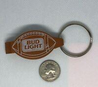 VINTAGE PROMO Advertisement KEYCHAIN RING Bud Light Football Bottle Opener Beer