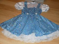 Girl's Size Small 4-6 The Wizard of Oz Dorothy Costume Sequin Dress & Bows New