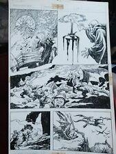 Weirdworld #? p.15 - Wizard Magic, Dragon, & Elves - 1980's art by John Buscema