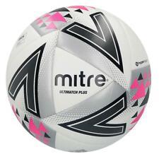 Mitre Unisex Ultimatch Plus Max Match Football Whitesilverpink Size 5
