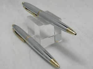 FRANKLIN COVEY CROSS PEN AND PENCIL SET - SILVER AND GOLD