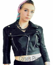 Leather Casual Cropped Coats & Jackets for Women