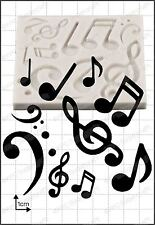 Silicona Molde Notas Musicales | uso alimentario FPC Sugarcraft Envío Reino Unido!