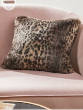 🤎 Leopard Faux Fur Cushion Animal Print 50 X 50cm Bnwt 🤎