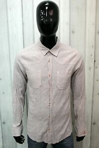 Jeckerson Man Size L Shirt Chemise Cotton Shirt Man Long Sleeve Logo Italy