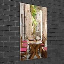 Wandbild Kunst-Druck auf Hart-Glas senkrecht 50x100 Korcula Kroatien