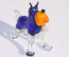 MURANO ART GLASS Lampwork DOG Handmade Puppy Gift Collectible Figurine Figure