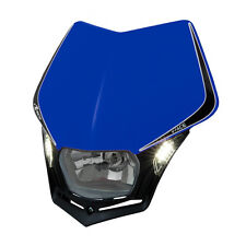 MASCHERINA PORTAFARO RACETECH V-FACE LED BLU (Blue Headlight) R-MASKBLNR009
