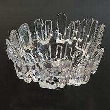 Kelonia Polar Ice Clear Crystal Bowl Dish Votive Candle Holder Scandinavian Glas