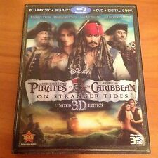 Pirates of the Caribbean: On Stranger Tides w/ Slipcover (3D/Blu-ray/DVD, 2011)