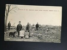 Vintage postcard MR. SHREEVE'S HOME AFTER CYCLONE SHREVE RIDGE PENNSYLVANIA - B