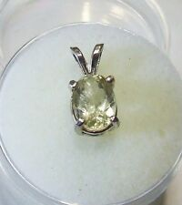 Natural earth-mined yellow quartz in a solid sterling silver pendant