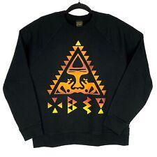 VTG Obey Made in USA Mens Black Long Sleeve Crewneck Sweatshirt Size Medium