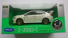 WELLY SUBARU IMPREZA WRX STI WHITE 1:34 DIE CAST METAL MODEL NEW IN BOX