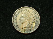 SUMMER SALE!!  XF  1899 INDIAN HEAD CENT PENNY w/ DIAMONDS & FULL LIBERTY #55s