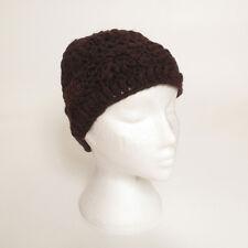 Hand Knitted Winter Woollen Crochet Flower Beanie Hat, One Size, UNISEX CFB2