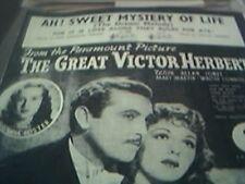 the great victor herbert ah sweet mystery of life sheet music susanna foster