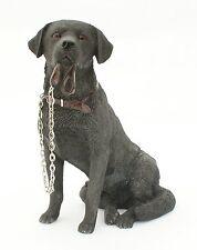 Black Labrador Dog Ornament Sitting Lead Walkies Dog Studies Range by Leonardo
