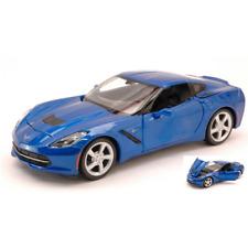 CORVETTE STINGRAY 2014 BLUE 1:24 Maisto Auto Stradali Die Cast Modellino