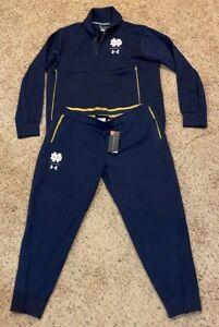 Under Armour Notre Dame Fighting Irish Womens Tracksuit Jacket Pants 2XL NWOT
