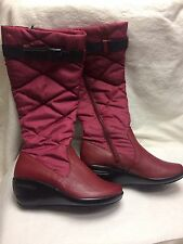 Rockport Wedge Heel Boots Bordeaux Size 7M APW1372R F104