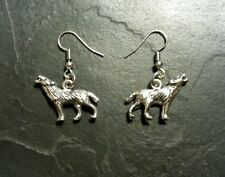Wolf Werewolf Wolfman Animal Wildlife Earrings Pendant Charm Set Gift Present