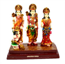 Hand Carved Ram Sita and Laxman Resin Idol Sculpture Statue 5.5 Inches AIRS4001A