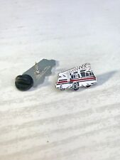 THIN RED LINE FIRE ENGINE FIREMAN FIREMEN FIREFIGHTER MOURNING BAND PIN BADGE