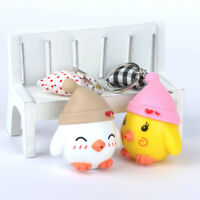 Cute Chicken Shape LED Luminous Light Key Chain Mini Flashlight Kawaii Kids Toy